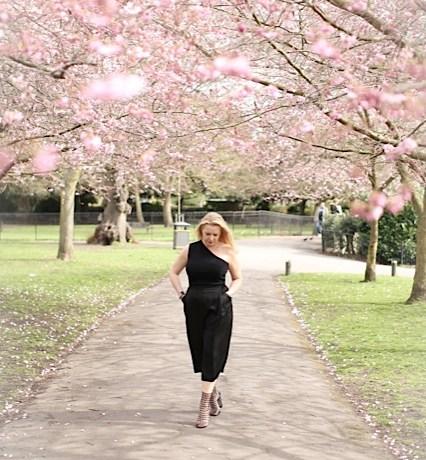 cherry blossom culottes