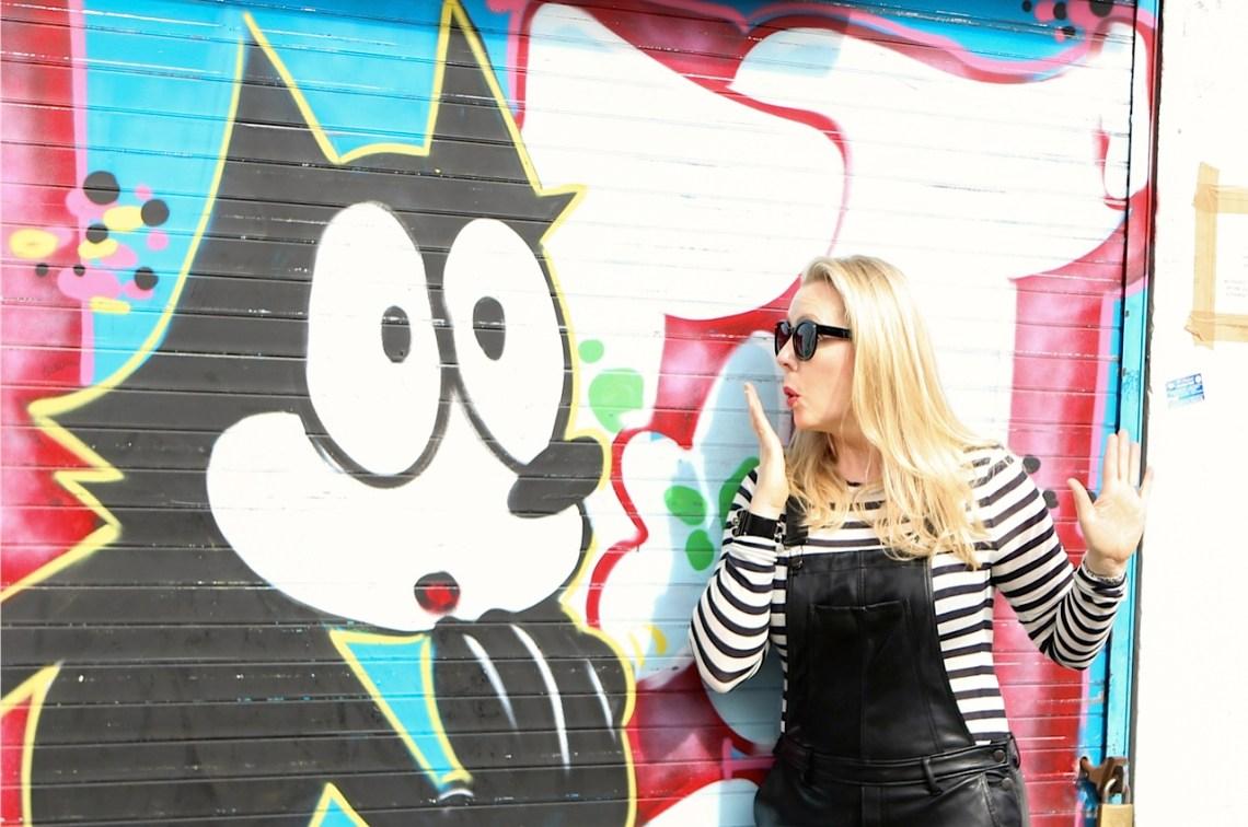 Lisa-March-30 graffitti overalls