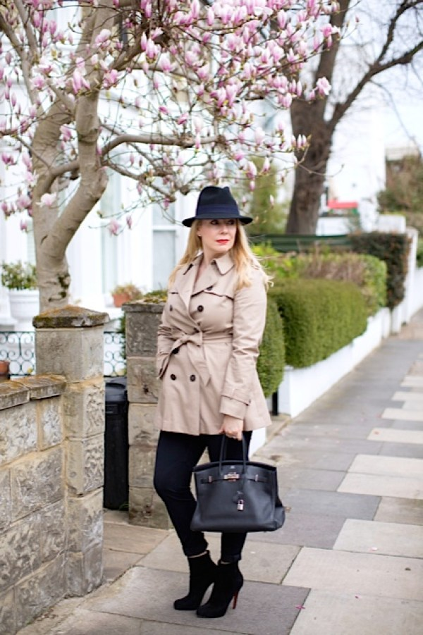short trench, fedora, birkin
