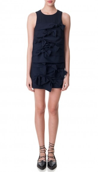 Tibi-Pre-Fall-15-Tropical-Wool-Tie-Skirt-Navy-Full-Front