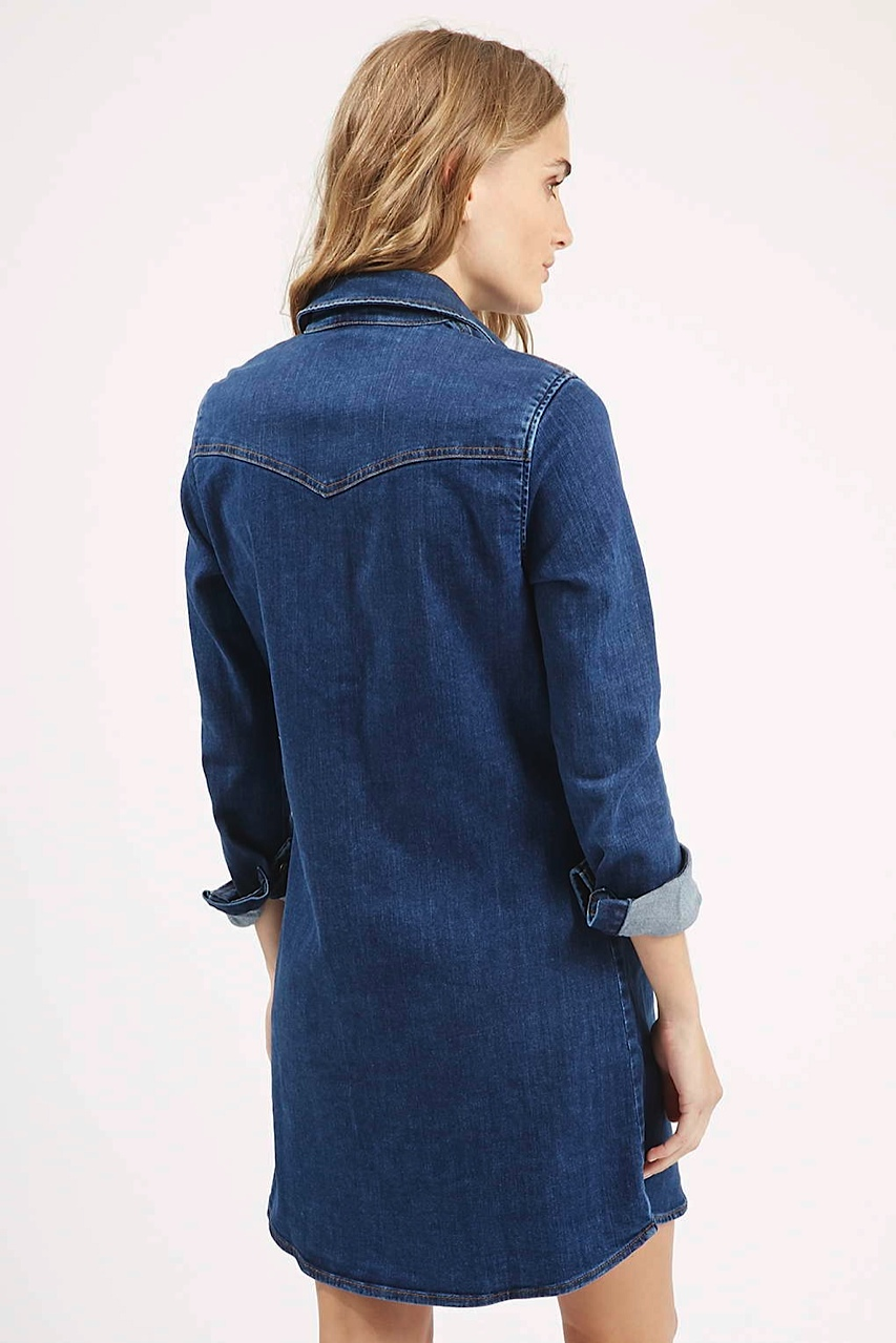 Moto denim dress topshop