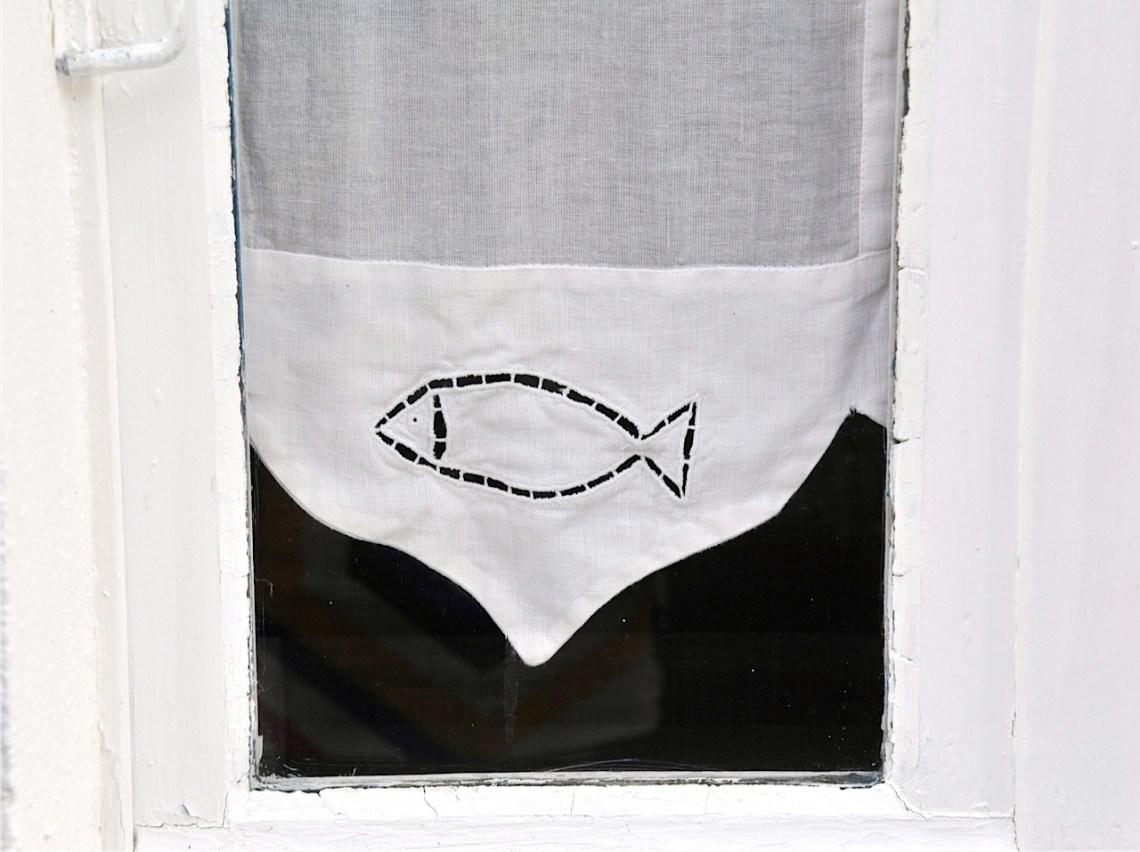 fish lace curtain