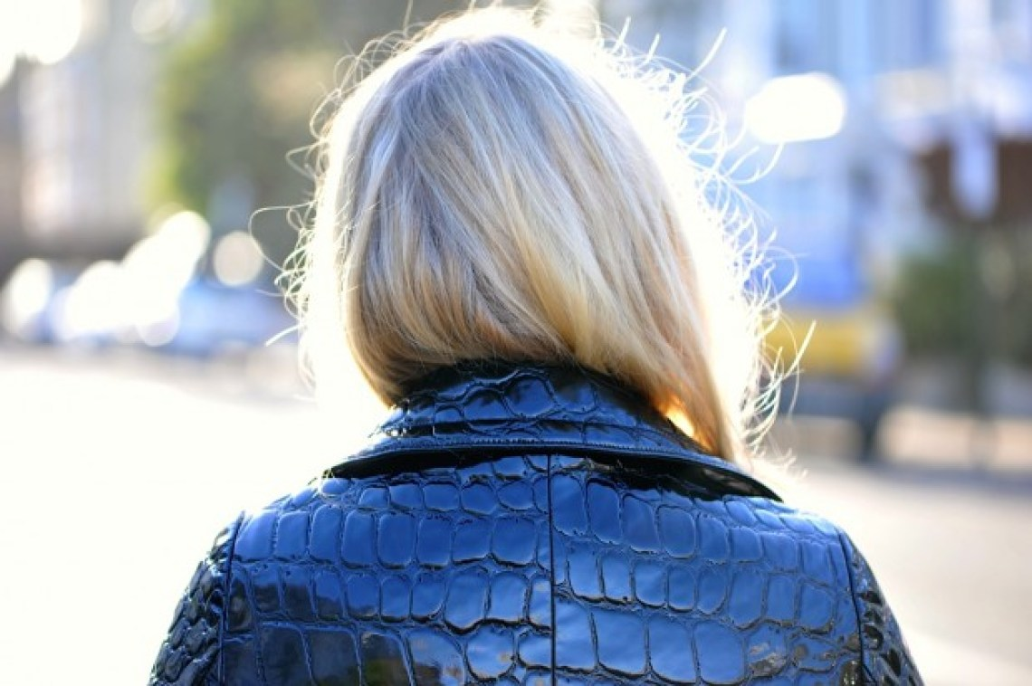 blonde trench coat
