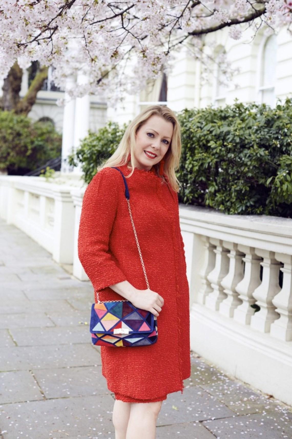 Red Tweed coat