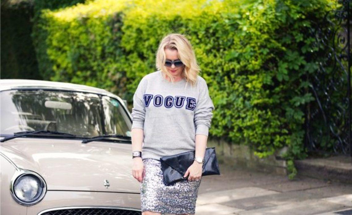 sequins and sweatshirt