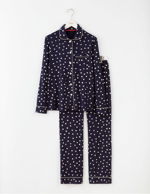 navy gold foil pyjamas