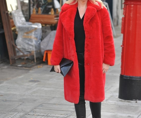 Pillar box red faux fur