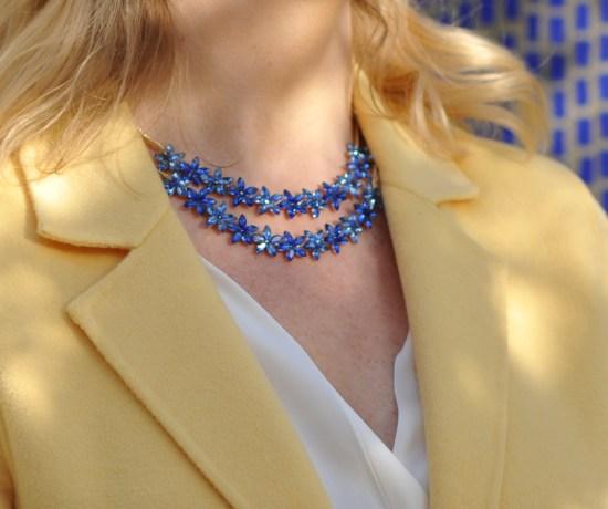 Blue Floral necklace set