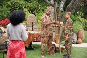 """BLACK-ISH - ABC's new family comedy, """"black-ish,"""" takes a fun yet bold look at one man's determination to establish a sense of cultural identity for his family. The series stars Anthony Anderson, Tracee Ellis Ross and special guest star Laurence Fishburne. (ABC/Adam Taylor) TRACEE ELLIS ROSS, ANTHONY ANDERSON, MARCUS SCRIBNER"""