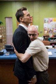 """COMMUNITY -- """"Repilot"""" Episode 501 -- Pictured: (l-r) Joel McHale as Jeff, Jim Rash as Dean Pelton -- (Photo by: Justin Lubin/NBC)"""