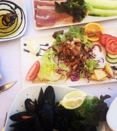 Mussels, squid and prosciutto Ta' Pennellu, Marsalforn, Gozo