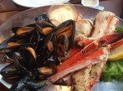 King crab and Mussels at Fish Me, Bergen