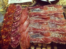 Cured meats at La Cepa, San Sebastian