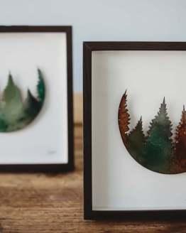 Ashleigh Proud treetops print