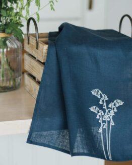 Linen-Tea-Towel-Bluebell-Collection
