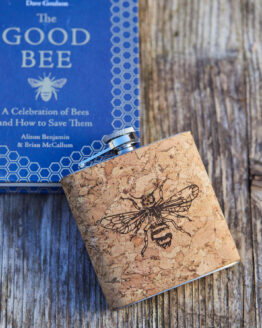 bee cork hip flask