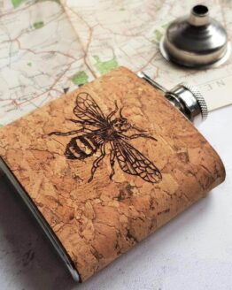 bee cork hip flask alternative sho