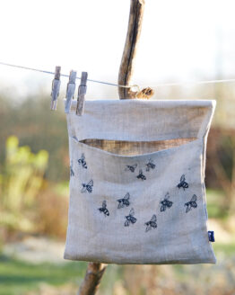 bee print peg bag straight on