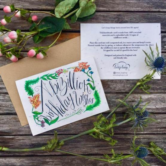 birthday wildflower seed card