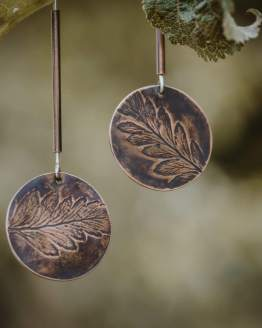 fern leaf tube earrings main