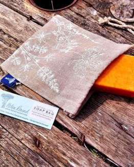 linen soap bag