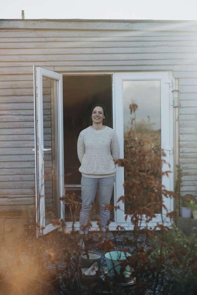 Liz Vidal outside her studio shot