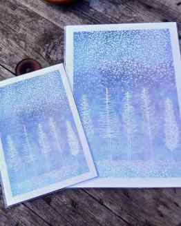winter trees print