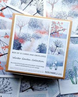 winter garden cards by Ruth Thorp