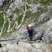 Via Ferrata Virgins - getting started at via ferrata