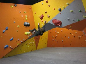 Bouldering at the Beacon Climbing Centre