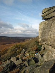 Burbage Edge in the Peak District in November.