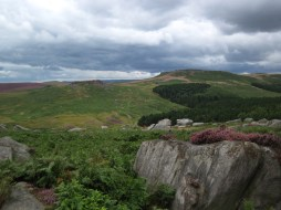 The Burbage valley and Higgar Tor.