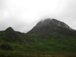 Tryfan Bach (AKA Little Tryfan) and Tryfan (on the right).