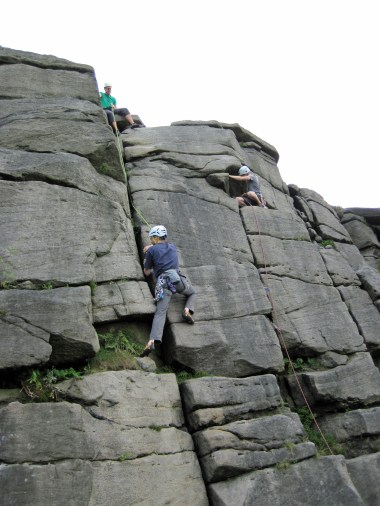 Me seconding Ash Tree Crack (VDiff) at Burbage.