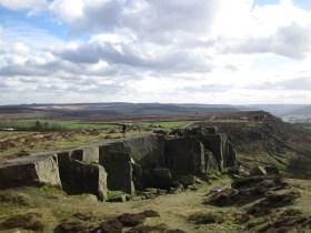 The Little Quarry at Curbar Edge.