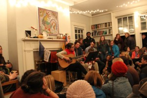 Students gathered to hear music