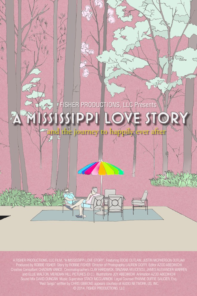 The poster for A Mississippi Love Story