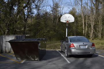 Not a great spot for a pick-up game.