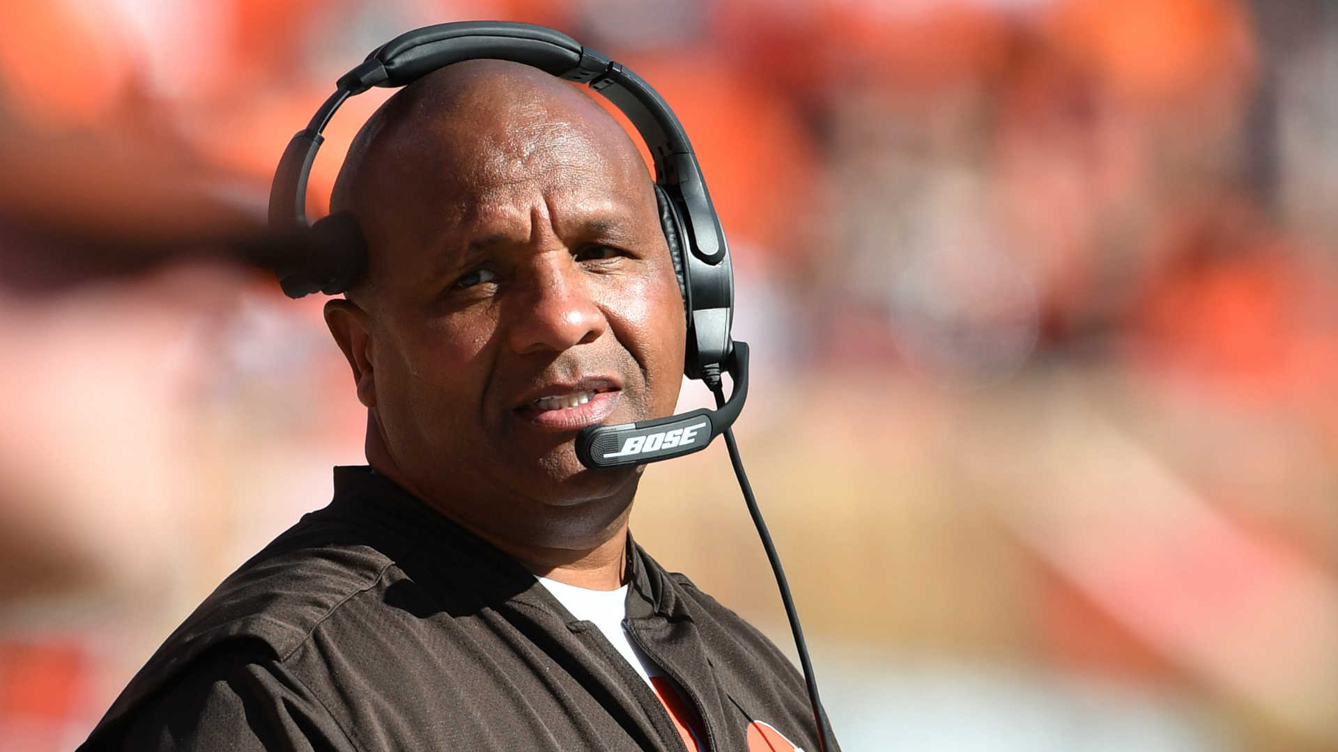 Hue Jackson coach of the Cleveland Browns