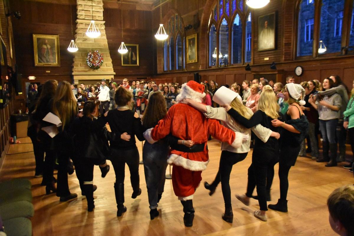 Christmas tree lighting brings holiday spirit to the Domain