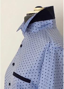 LMV Bernie hemd with contrast fabrics