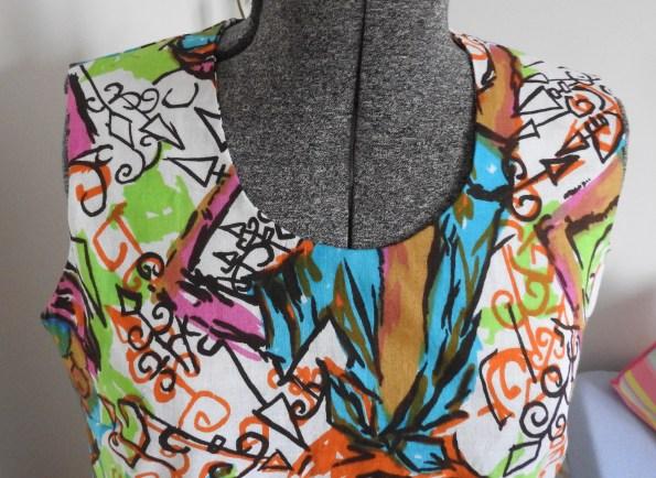 lowered neckline on my completed Jeltje dress