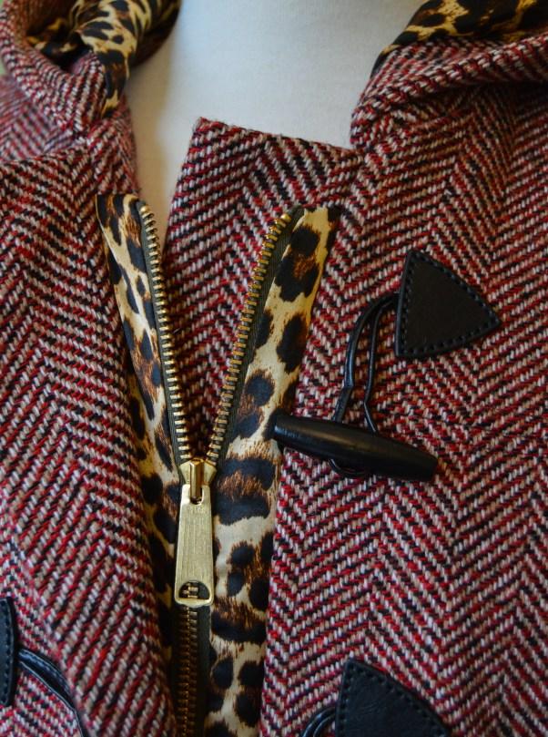 Grainline Cascade Duffle zipper close up