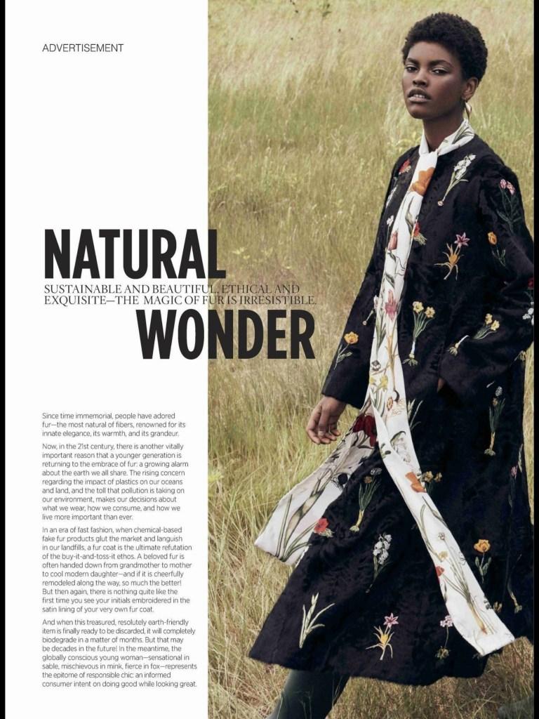 Advert in Vogue magazine; Oct 2018
