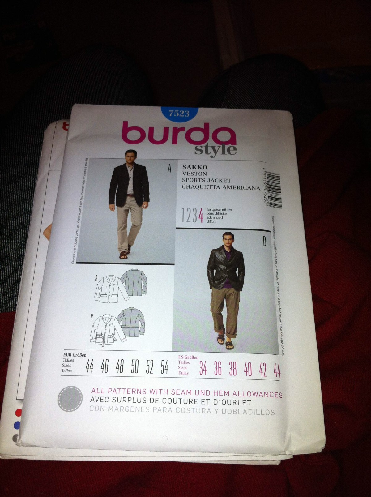 Burda pattern envelope
