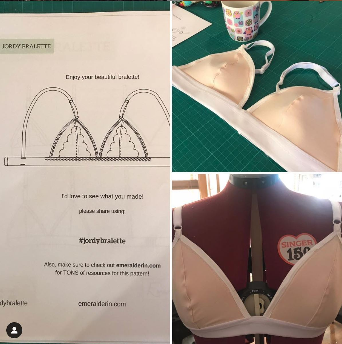 Bralette pattern and garment
