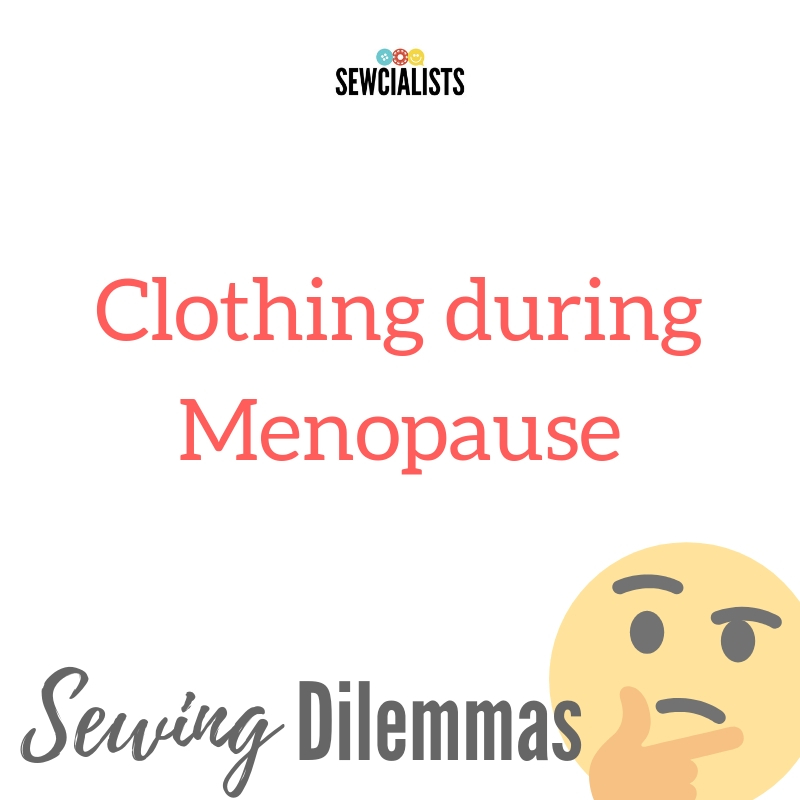 """Graphic saying, """"Clothing during Menopause"""""""