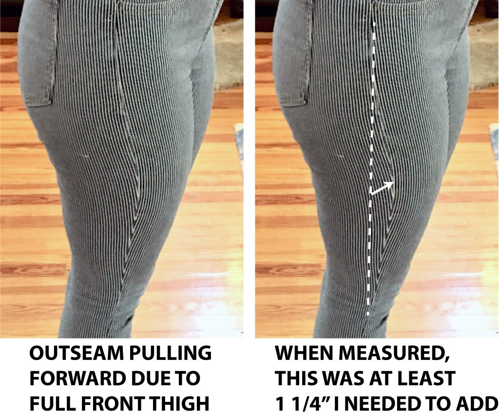 Image showing pants side seam pulling towards front