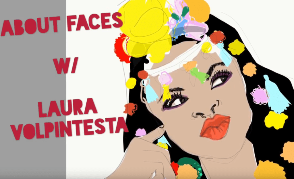 screenshot of one of Laura's youtube tutorials on drawing faces