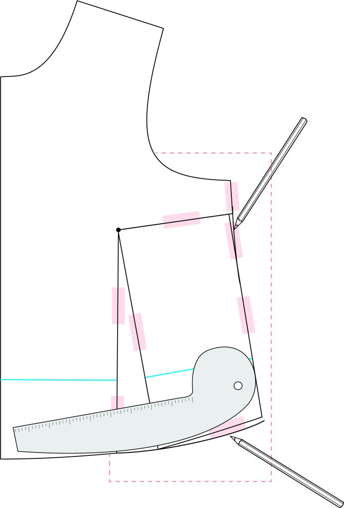 graphic showing dart tracing and truing